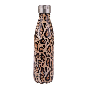 Oasis Stainless Steel Insulated Bottle - Leopard Print 500ml