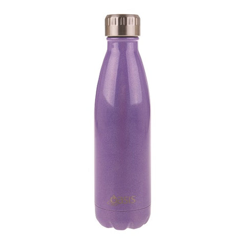 Oasis Stainless Steel Insulated Bottle - Purple Lustre 500ml