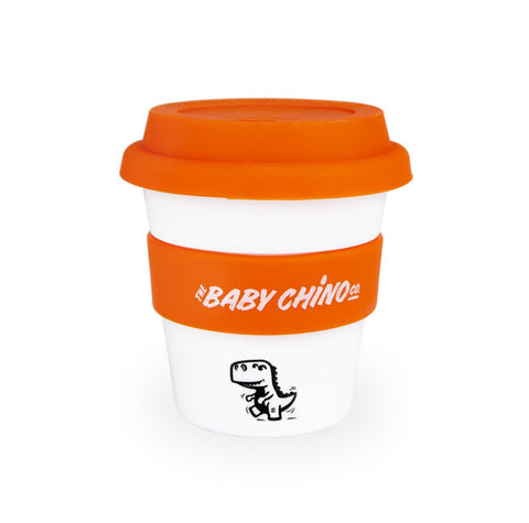 the baby chino co cup orange dinosaur