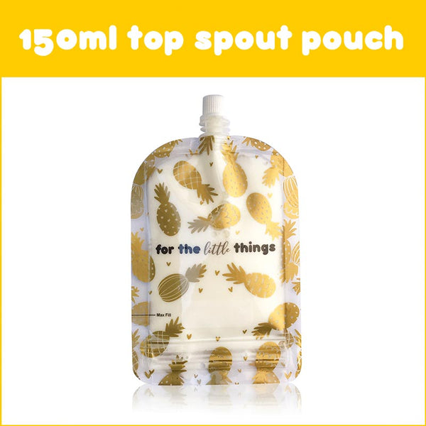 Sinchies 150ml Reusable Food Pouches - Pineapples 10PK