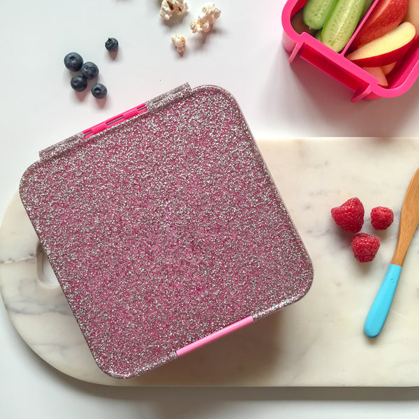 Little Lunch Box Co - Bento 5 - Pink Glitter LIMITED EDITION