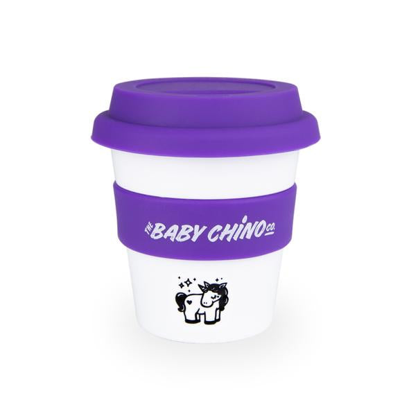 the baby chino co cup purple unicorn