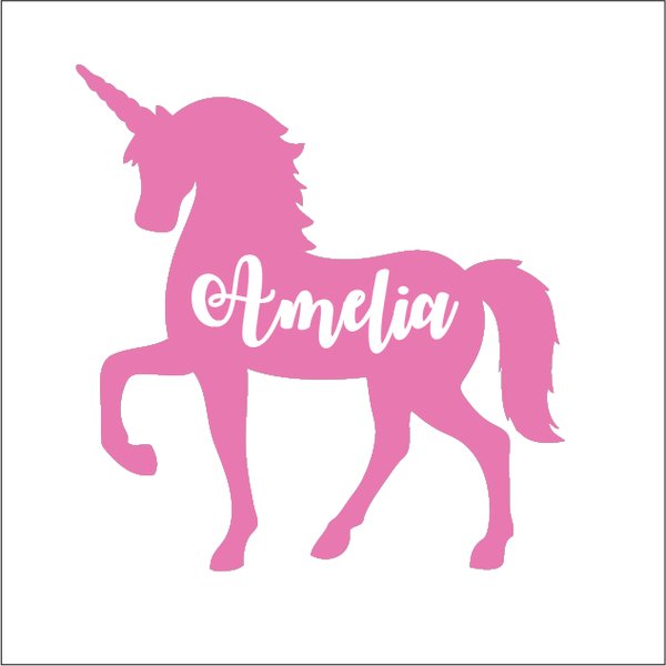 Premium Colour Custom Name Label - UNICORN