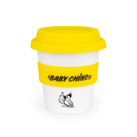 the baby chino co yellow cockatoo babychino cup