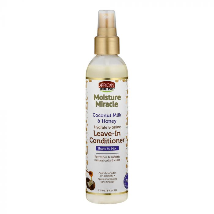 African Pride Moisture Miracle Coconut Milk & Honey Leave In Conditioner (8oz) - empress mane