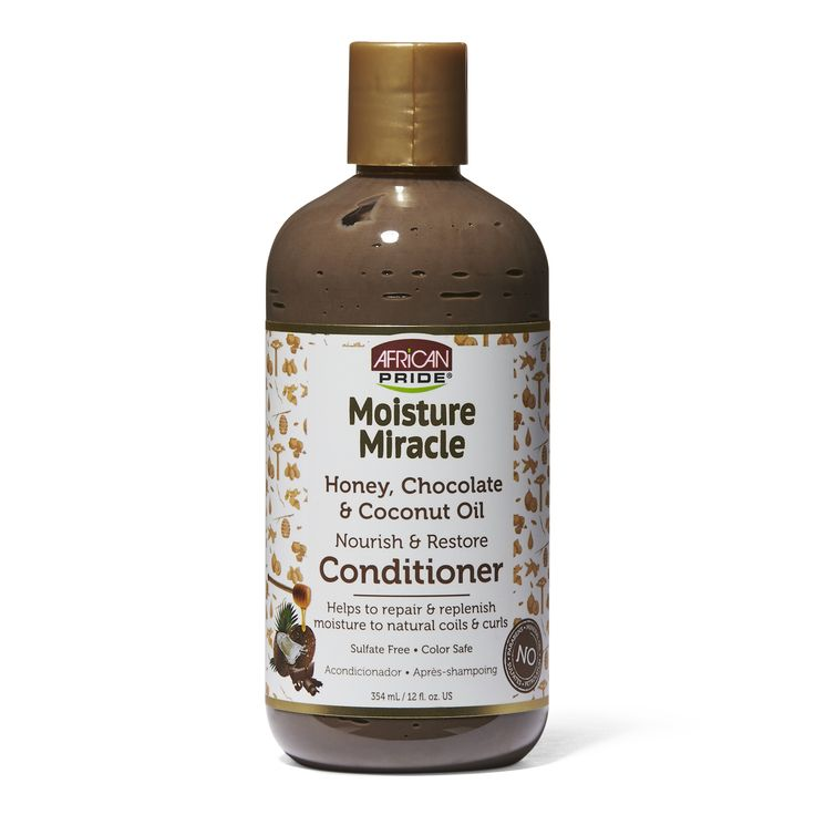 African Pride Moisture Miracle Honey, Chocolate & Coconut Oil Nourish & Restore Conditioner (12oz) - empress mane