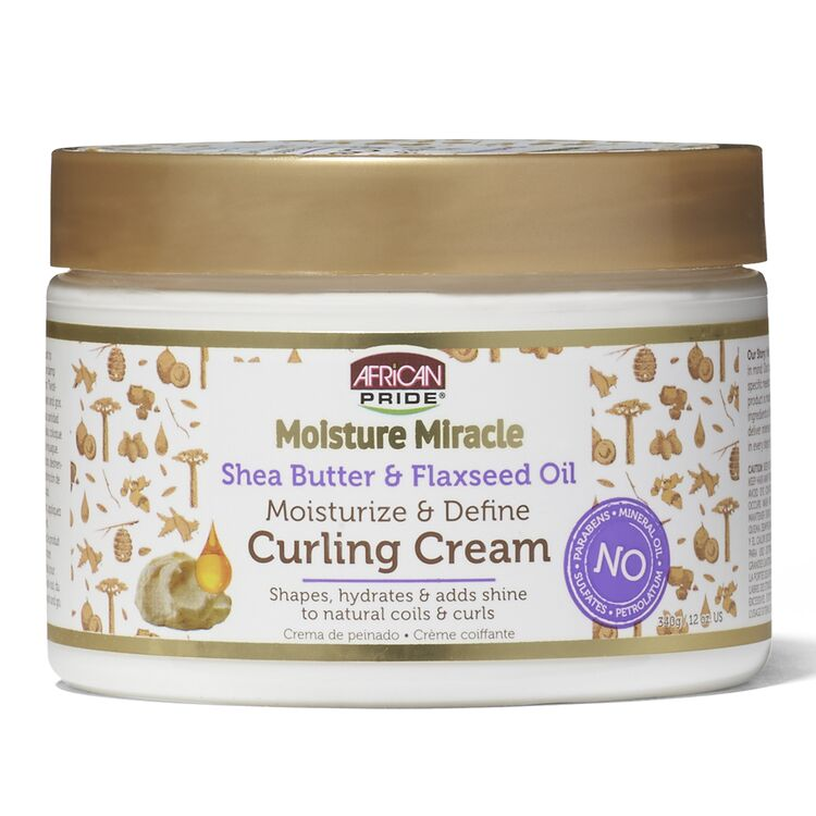 African Pride Moisture Miracle Shea Butter & Flaxseed Oil Curling Cream (12oz) - empress mane