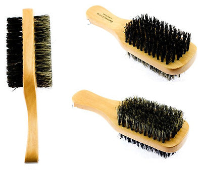 Magic Collection Soft & Hard Double Sided Natural Boar Bristle Club Brush Wood - empress mane