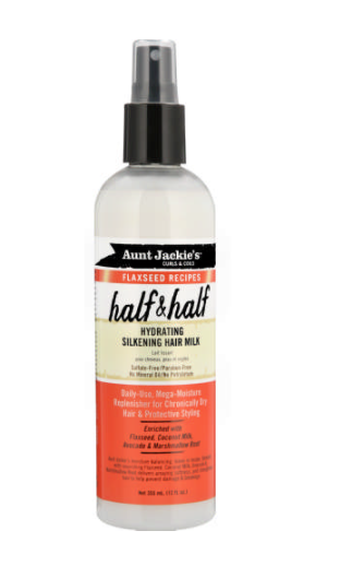 "Aunt Jackie's Flaxseed Recipes ""Half & Half"" Hydrating Silkening Hair Milk (12oz) - empress mane"