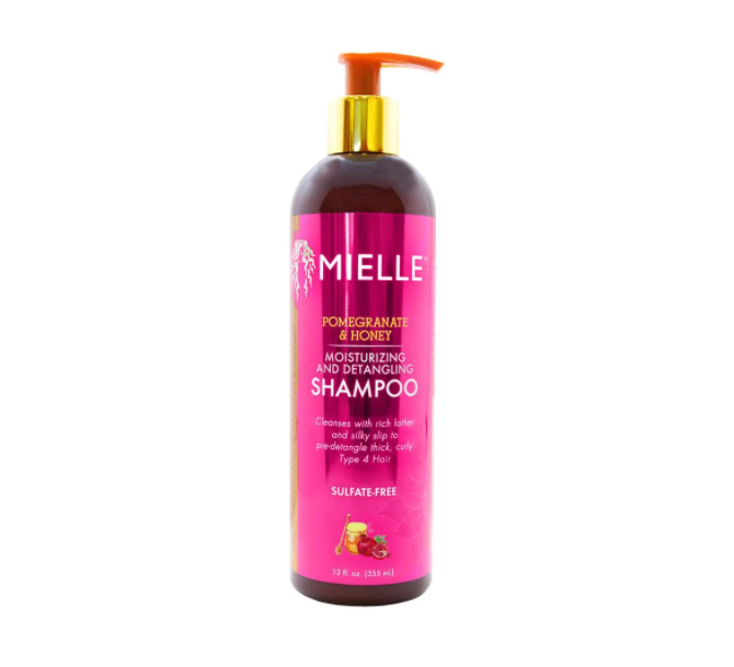 Mielle Pomegranate & Honey Moisturizing And Detangling Shampoo (12oz) - empress mane