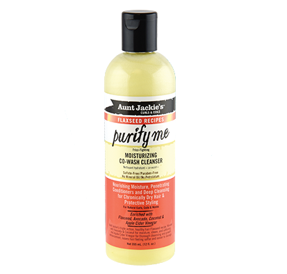 "Aunt Jackie's Flaxseed Recipes ""Purify Me"" Moisturizing Co-Wash Cleanser (12 oz) - empress mane"