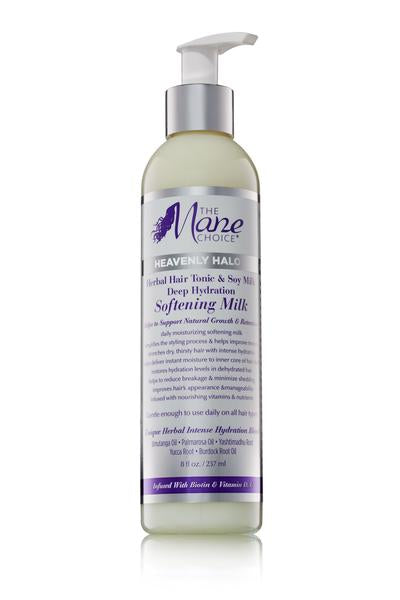 The Mane Choice Heavenly Halo Herbal Hair Tonic & Soy Milk Deep Hydration Softening Milk (8 oz)