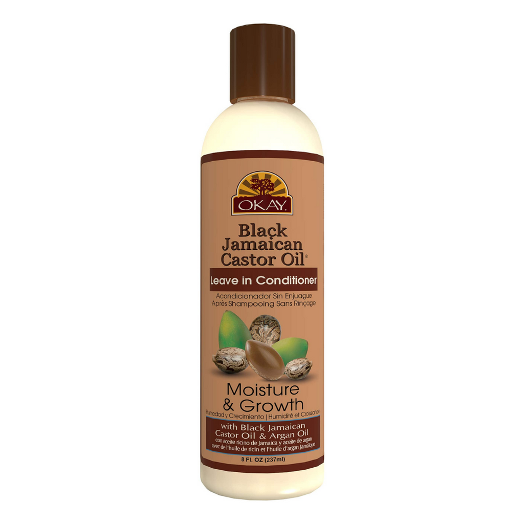 Okay African Black Jamaican Castor Oil Leave In Conditioner (8 oz)