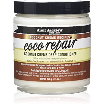 "Aunt Jackie's Coconut Crème Recipes ""Coco Repair"" Coconut Crème Deep Conditioner (15 oz)"