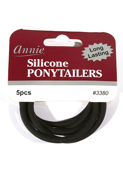 "Annie Silicone Ponytailers/Hair Ties ""2"""