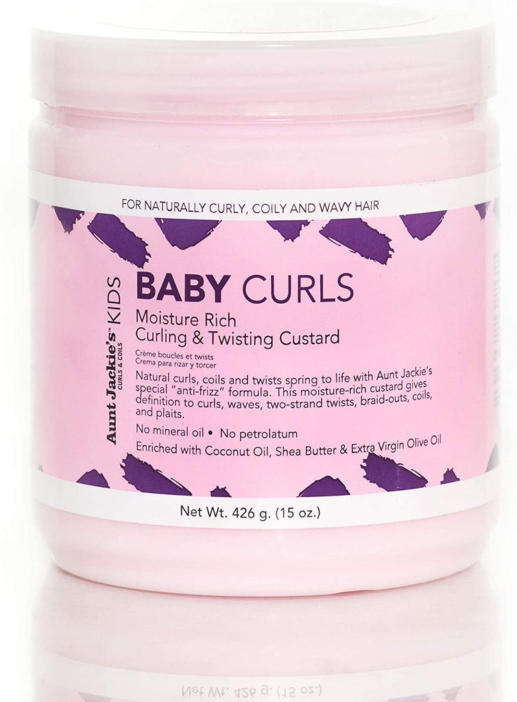 "Aunt Jackie's Girls ""Baby Curls"" Moisture Rich Curling & Twisting Custard (15 oz) (previously Baby Girl Curls)"