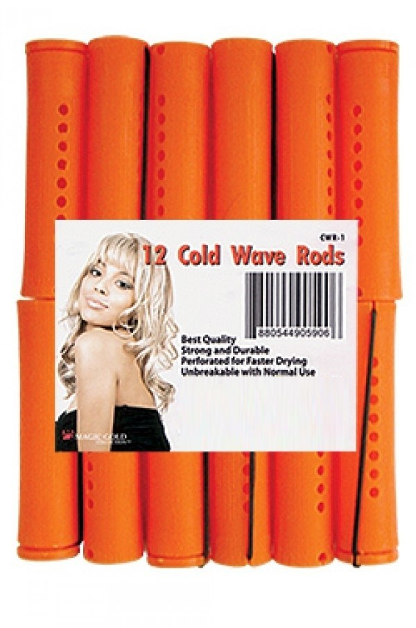 "Liz Professional Perm Rods/Cold Wave Rods 9/16""(12 pack) - White"