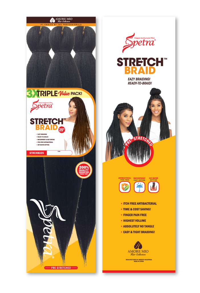 Spectra Ez Braid Pre-Stretched Braiding Hair Value Pack - 3 Bundles - empress mane