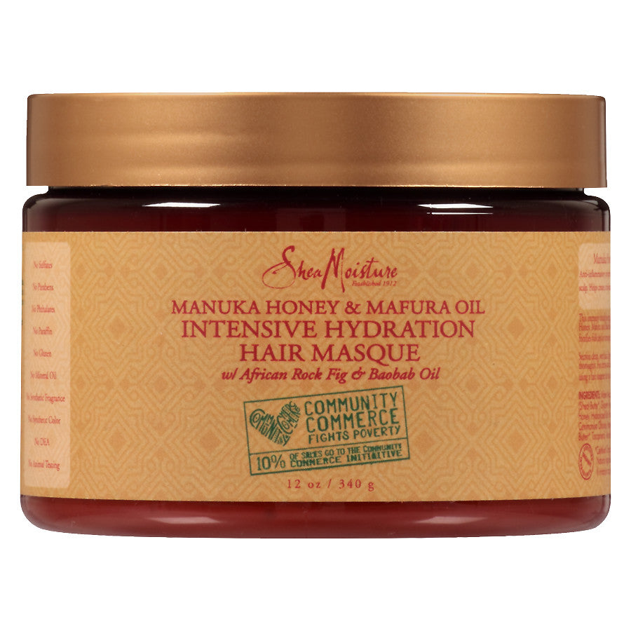 Shea Moisture Manuka Honey & Mafura Oil Intensive Hydration Hair Masque (12 oz) - empress mane