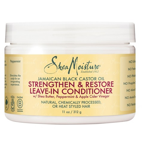 Shea Moisture Jamaican Black Castor Oil Strengthen & Restore Leave-In Conditioner (8 oz) - empress mane