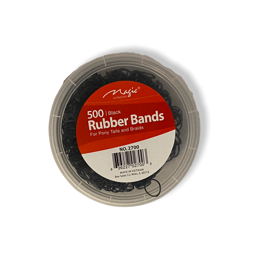 Magic Collection 500 Rubber Bands - Black