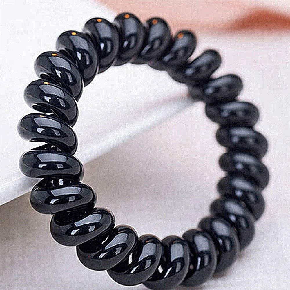 Plastic Coil Hair Ties (20Pcs) Traceless - empress mane