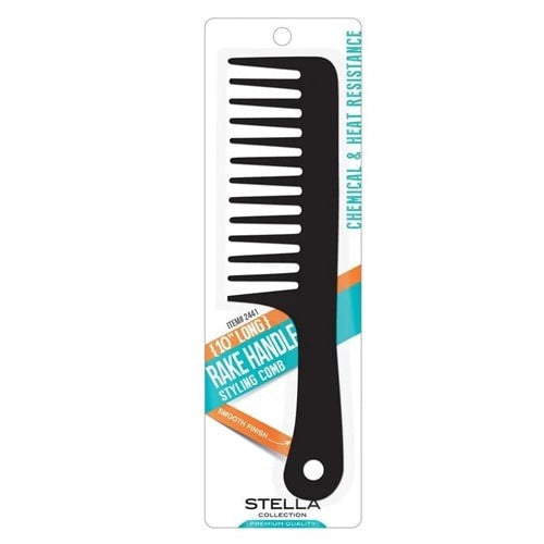 Stella Collection Rake Handle Styling Comb (10 Inch Long) - empress mane