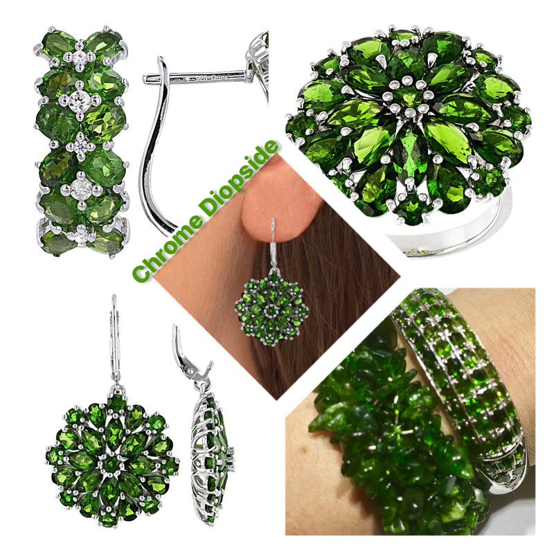 Chrome Diopside helps naturally treat headaches and to regulate blood pressure