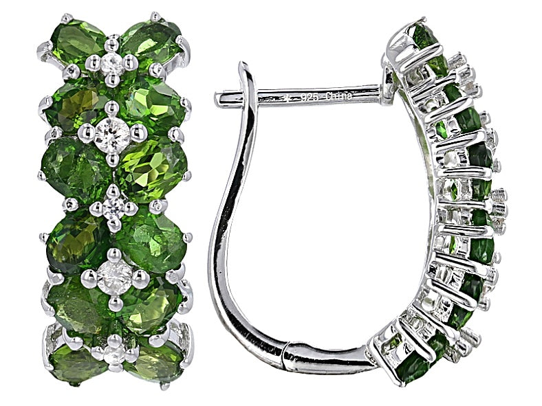 Chrome Diopside 4 CTW French Clip Earrings - LAST PAIR