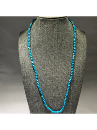 "Turquoise Necklace 20"" - 76 CT Round Beads"