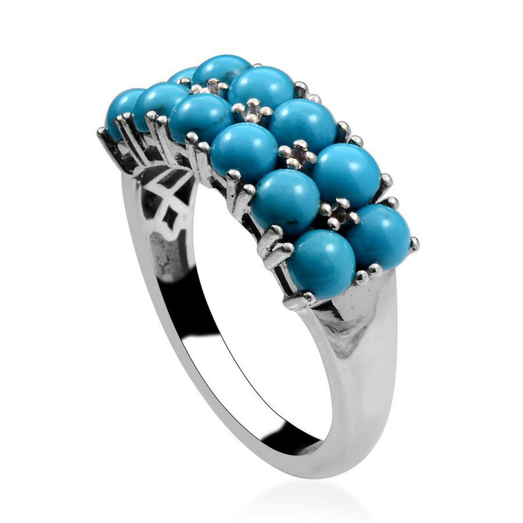 Turquoise Ring (Sleeping Beauty Turquoise Ring - 4.00 Cts  Size 7)