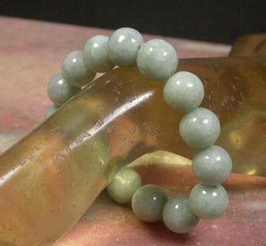 Jade Bracelet - Rare Light Green Jadeite Beads