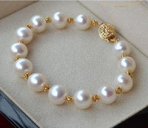 Pearl Bracelet - White South Seas - 14K Spacers and Clasp