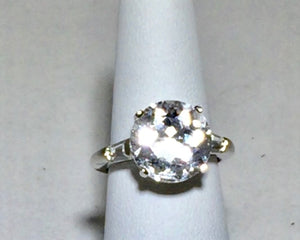 "HERKIMER ""DIAMOND"" CLEAR Quartz huge Ring"