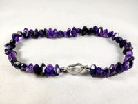 Amethyst Nugget Necklace 18 inch - 18 MM NUGGET