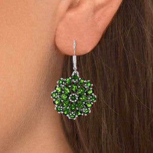 Rare Chrome Diopside 720 CTW Earrings - LAST PAIR -