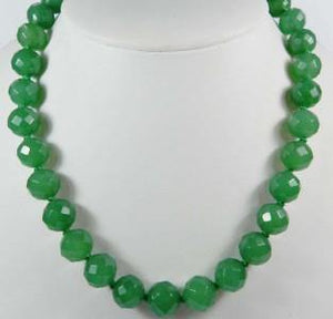 "Emerald Necklace - Brillant Faceted 20"" Necklace"