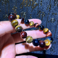 Tiger Eye Bracelet - Round 10mm Beads