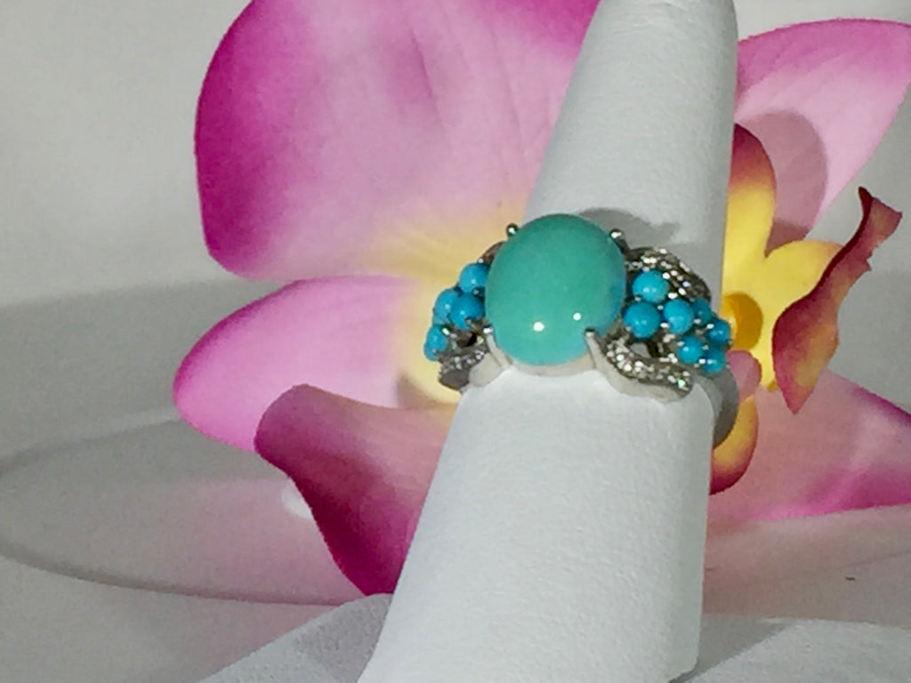 Sleeping Beauty Turquoise Ring - Pisces Secrets LLC