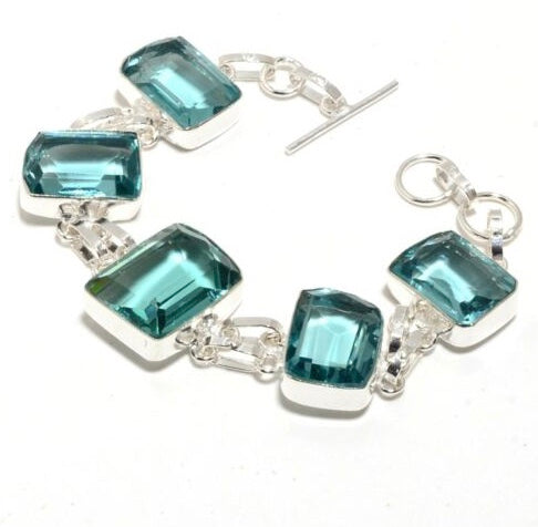 Green Amethyst Bracelet - displays large chunks of gorgeous stone