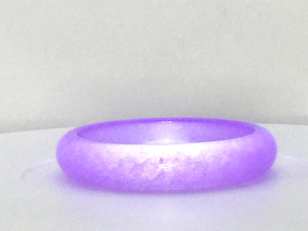 Lavender Jade Bangle Bracelet