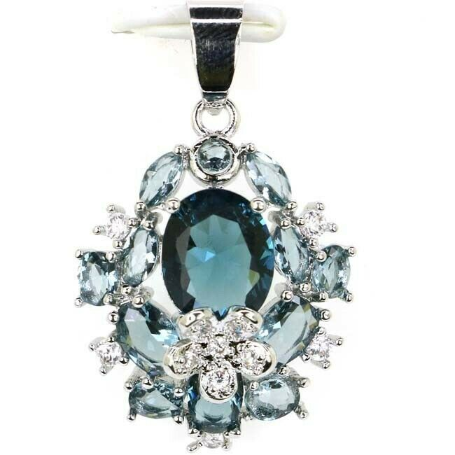 London Blue Oval Pendant