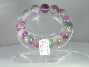 Jade Jadeite mixed colors bracelet - pink white green jade bracelet