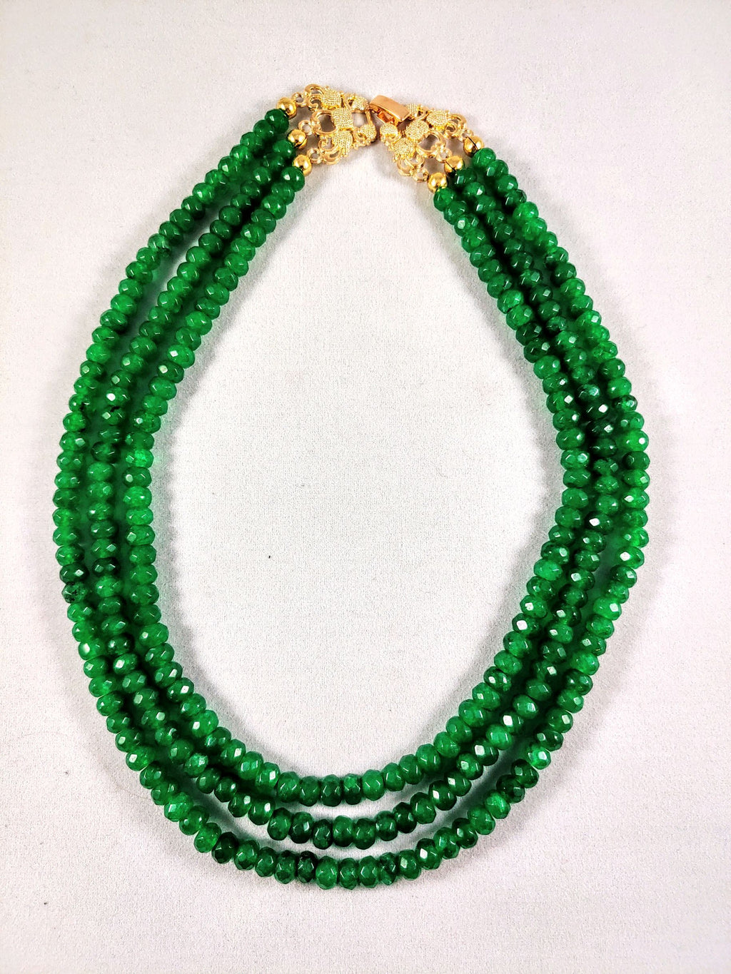 Emerald Necklace Faceted with AAA Grade