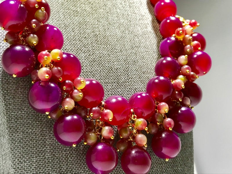 Red Agate Boho Necklace (also available in Blue Agate) - too gorgeous for print