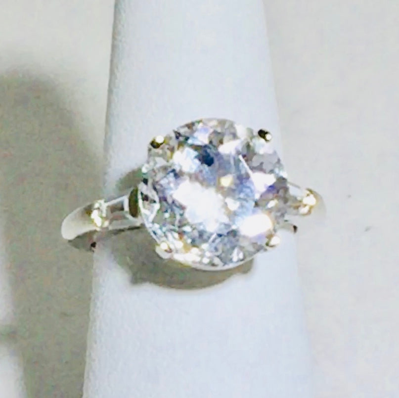 "HERKIMER ""DIAMOND"" CLEAR Quartz huge Ring - Pisces Secrets LLC"