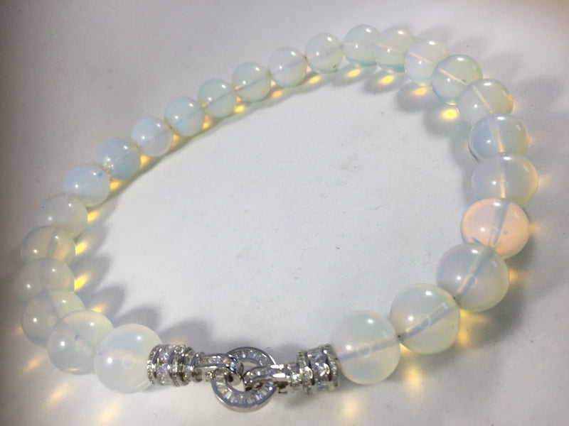 Opal Moonstone 18 MM Beads Necklace
