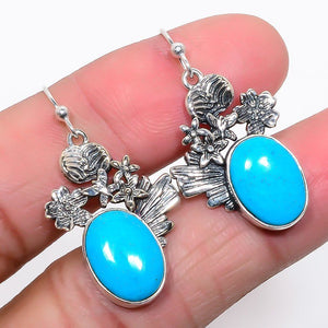 Turquoise Earrings from Egypt - 925 Sterling Silver