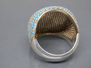 Turquoise Ring (Sleeping Beauty Turquoise Stone Size 7 PAVE Ring)