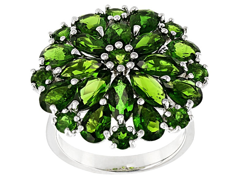 Chrome Diopside Bright Rich Green Cocktail Ring